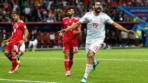 Diego Costa celebrates his good fortune