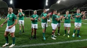 Ireland celebrate their win against Australia