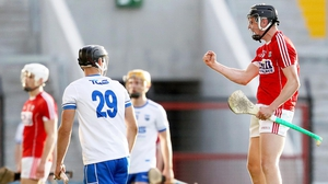 Cork's Darragh Connery celebrates his side winning possession against Waterford