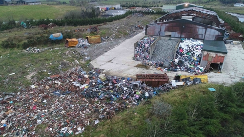 The site of the illegal dump in Co Donegal operated by Jim Ferry