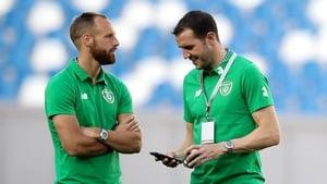 David Meyler (l) and John O'Shea will face Frank Lampard's Derby