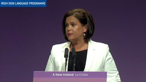 Sinn Féin Árd Fheis: The Leader's Speech (ISL)