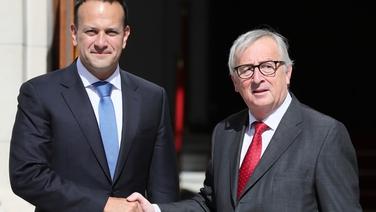 An Taoiseach Leo Varadkar agus Jean-Claude Juncker ag Tithe an Rialtais