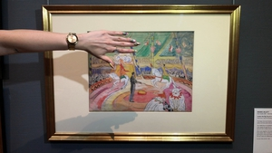 Under the Big Top at a Circus by Irish painter Mainie Jellett is the inspiration for nail artist's Rebecca McParland's design