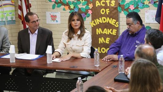 Melania Trump visits child detention center