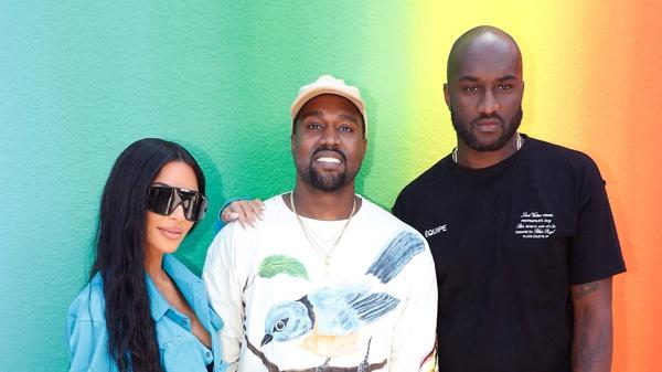 Kim Kardashian, Kanye West and Stylist Virgil Abloh