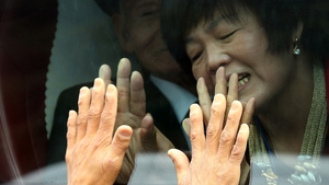 South Koreans bid farewell to their North Korean relatives after the last reunion event in 2015