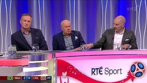 Richie Sadlier tried to explain what constitutes contact with Liam Brady