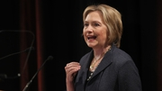 Hillary Clinton gave a public lecture at Trinity College in Dublin