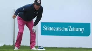 Hend eyes up a shot during his second round