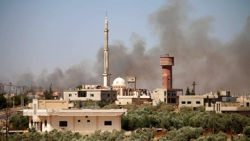Daraa has been bombarded over the last three days, forcing thousands of civilians to flee