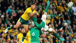 Israel Folau in action against Ireland