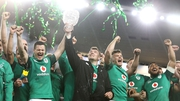 Ireland players celebrate the series victory which was secured with a 20-16 victory in Sydney