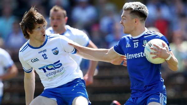 Waterford's Aidan Trihy and Conor McCarthy of Monaghan