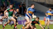 Mayo's Aidan O'Shea with Jack Kennedy of Tipperary