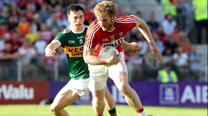 Cork's Ruairi Deane and Paul Murphy of Kerry