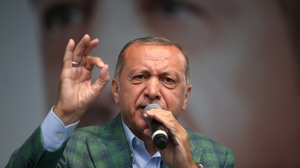 "Turkey's president Recep Tayyip Erdogan: ""recent developments have prompted experts to doubt the fairness and legitimacy of Turkey's democracy"""
