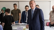 Recep Tayyip Erdogan votes in today's election
