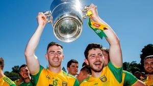 Patrick McBrearty and Ryan McHugh celebrate victory