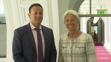An Taoiseach Leo Varadkar agus Christine Lagarde