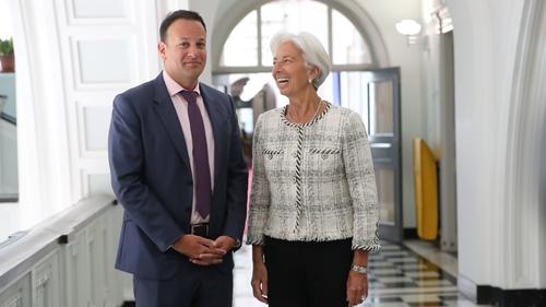 IMF director Christine Lagarde met Taoiseach Leo Varadkar at Government Buildings