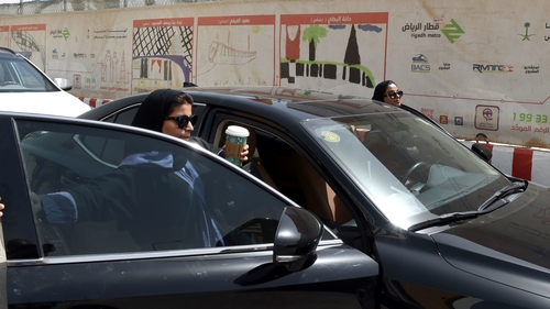 Saudi women take the wheel for the first time.