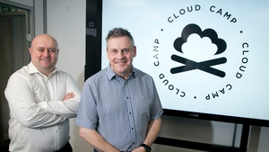Aidan Finn (l) from MicroWarehouse and Andy Malone, tech trainer, speaker and Microsoft  MVP Cloud Security