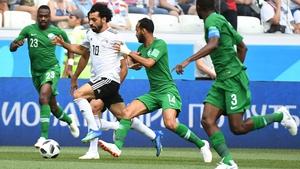 Egypt striker Mo Salah on international duty