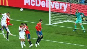 Youssef En-Nesyri heads home Morocco's second goal