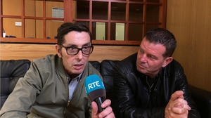 Aslan's lead singer Christy Dignam and guitarist Billy McGuinness