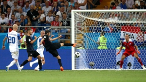 Milan Badelj opens the scoring for Croatia