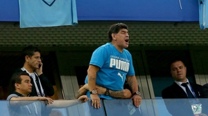 Maradona got over excited at the match on Tuesday night
