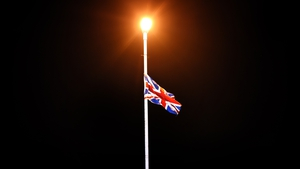 A union jack flag hung from a lamp post near the Irish border in Fermanagh. Photo: Charles McQuillan/Getty Images