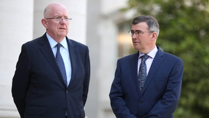 Minister Charlie Flanagan and incoming Garda Commissioner Drew Harris
