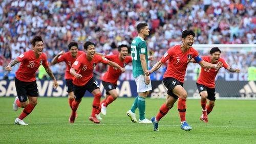South Korea celebrate their win