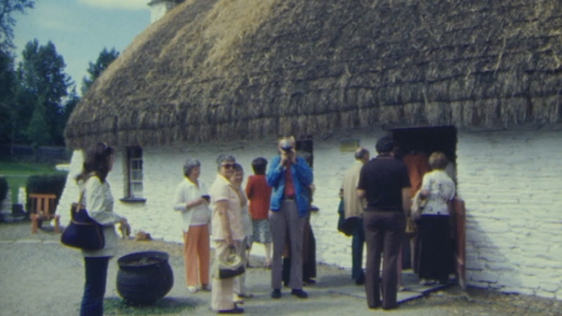 Tourists at Bunratty Folk Park (1978)