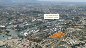 Map displays plans for the North Docklands Castleforbes location.