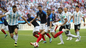 Kylian Mbappe fires home France's third