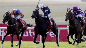 Donnacha O'Brien on Latrobe (C) wins The Dubai Duty Free Irish Derby