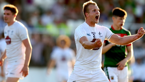 Kildare's Peter Kelly celebrates at the final whistle