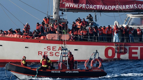 The Open Arms rescue boat is due to dock in Barcelona on Wednesday