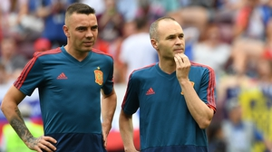 Andres Iniesta was left on the Spanish bench