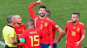 But there was a twist in the tale - Gerard Pique was penalised for handball in the box
