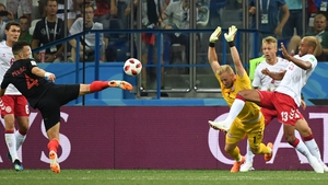 Kasper Schmeichel had to be on his toes as Croatia took control