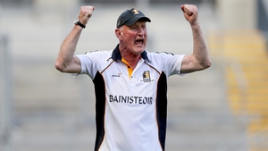Brian Cody celebrates his side's equaliser