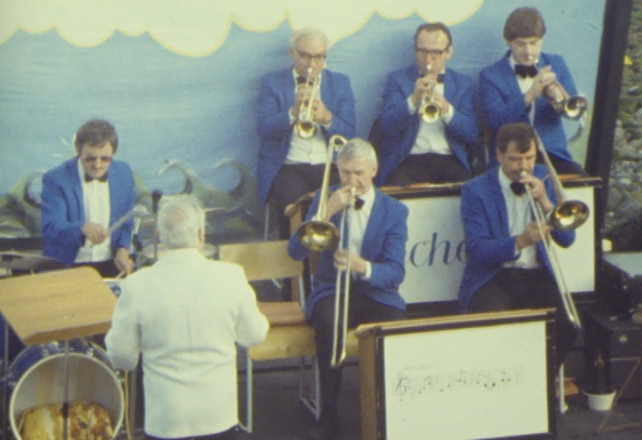 Band perform at Salthill Summer Project (1983)