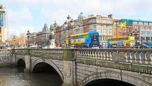 The incident happened on O'Connell Bridge yesterday (file pic)