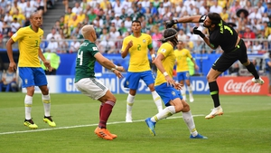 Brazil survived an early scare as Alisson's punch was not too convincing