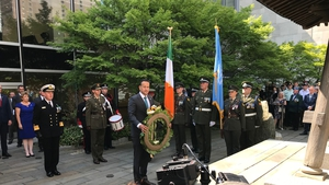 Leo Varadkar laid a wreath at the UN headquarters in New York to commemorate Irish peacekeepers who lost their lives on UN service