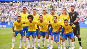 Brazil are through to a seventh consecutive quarter-final